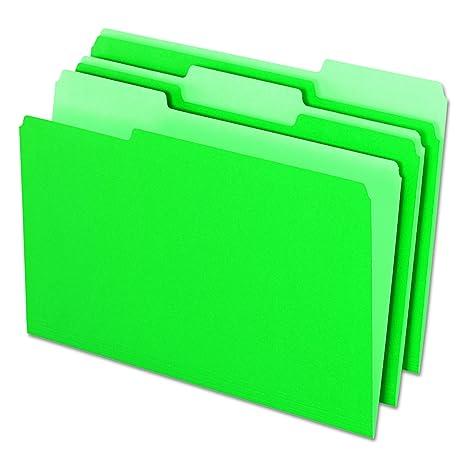 Pendaflex Pendaflex - Carpetas archivadoras de interior (corte 1/3, pestaña superior,
