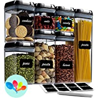 Fiyobo Airtight Food Storage Container Set,7 Pieces BPA Free Plastic Kitchen Organization and Storage with Easy Lock…