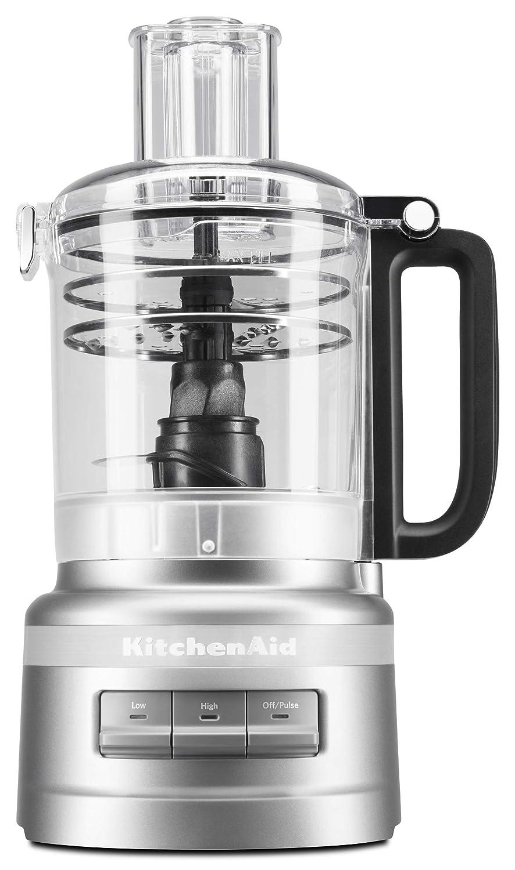 Contour Silver KitchenAid KFP0919CU 9 Cup Plus Food Processor, Contour Silver