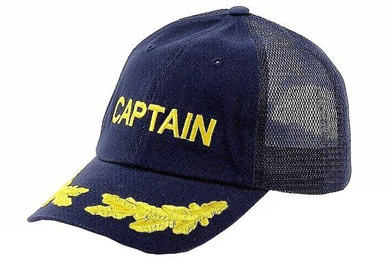 288e80ded Dorfman Pacific Co. Men's Mesh Back Captain Cap