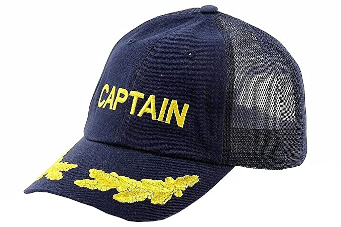 Amazon.com  Dorfman Pacific Co. Men s Mesh Back Captain Cap  Clothing a962d4223c3