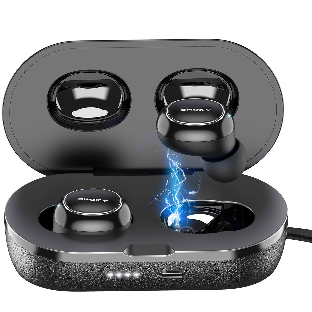 Auriculares Earbuds Inalam. Snoky Black IPX7 BD92