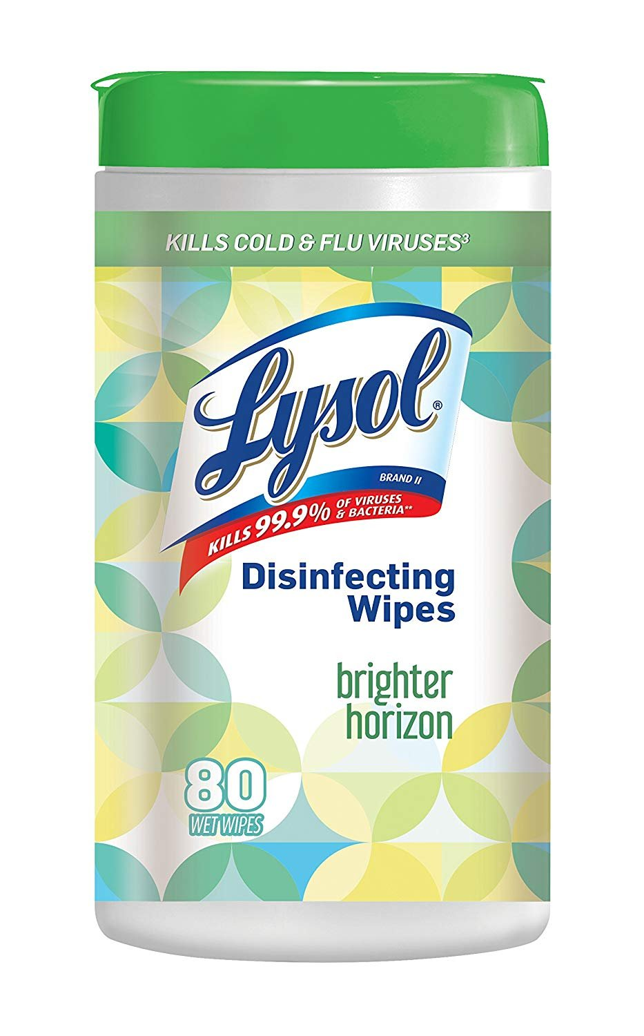 Lysol Brighter Horizon Country Breeze Scent Disinfecting Wipes, Count of 80