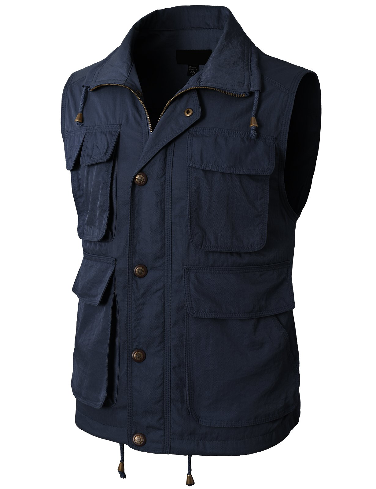 H2H Mens Active Work Utility Hunting Travels Sports Premium Vest Navy US M/Asia L (KMOV0117) by H2H