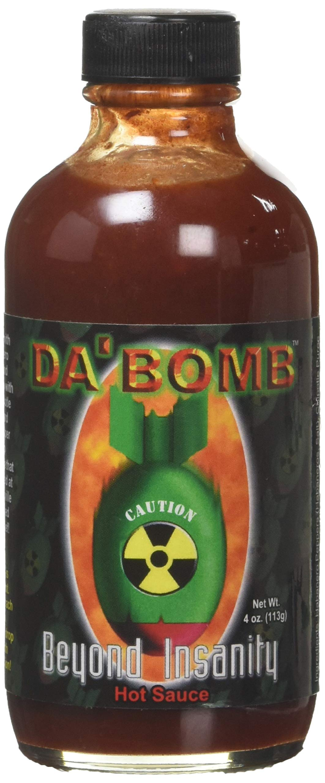 Americanspice Da Bomb Beyond Insanity Hot Sauce, Bottle, 4 Fl Oz