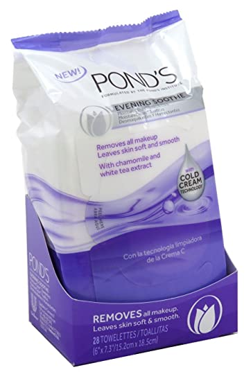 Ponds Towelettes Evening Soothe 28 Count (30ml) (6 Pack)