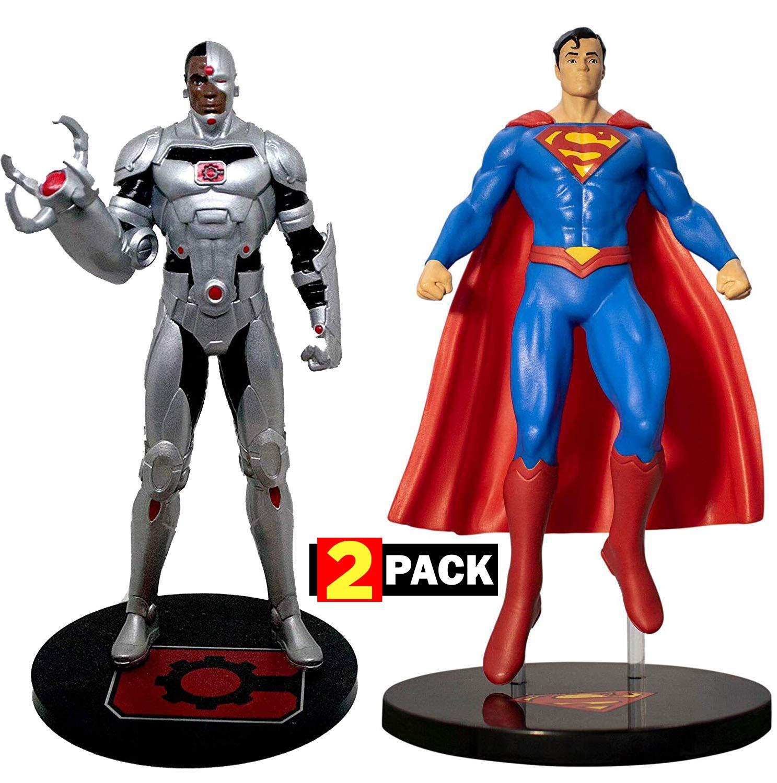 Cyborg & Superman Premium Figure Set 2-Pack | DC Comics Collectible Toy