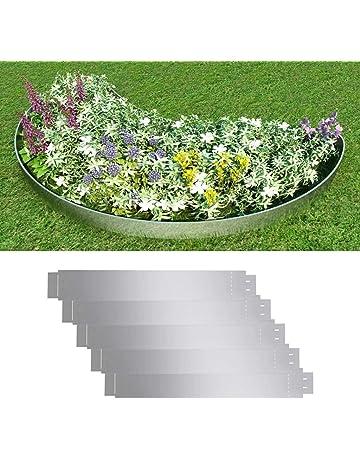 Xingshuoonline Set 5 Paneles Divisorios Flexibles de Acero Galvanizado 100 x 15 cm,Borduras Jardin