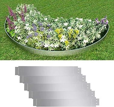 FZYHFA Set 5 Paneles Divisorios Flexibles de Acero Galvanizado 100 x 15 cm, Borduras para Jardin: Amazon.es: Bricolaje y herramientas