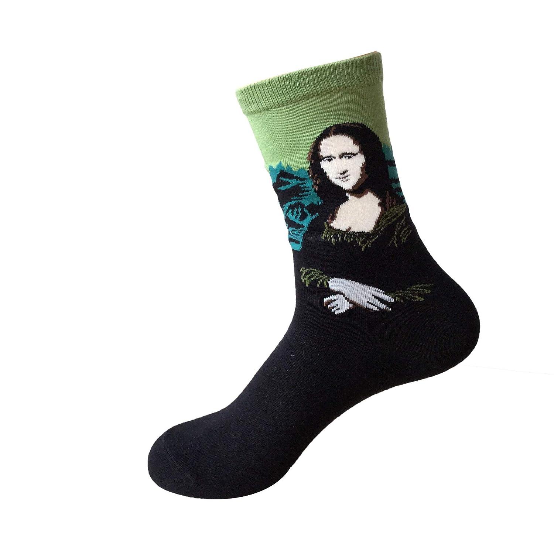 New Mens Women Painting Art Socks Funny Novelty Starry Night Vintage Retro Socks