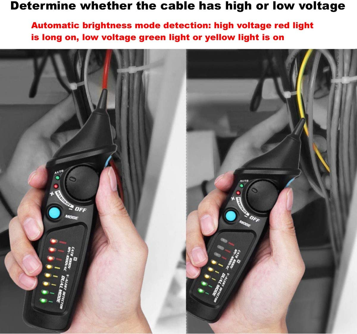 Adjustable Sensitivity Alarm Mode Non-Contact Electrical Voltage ...