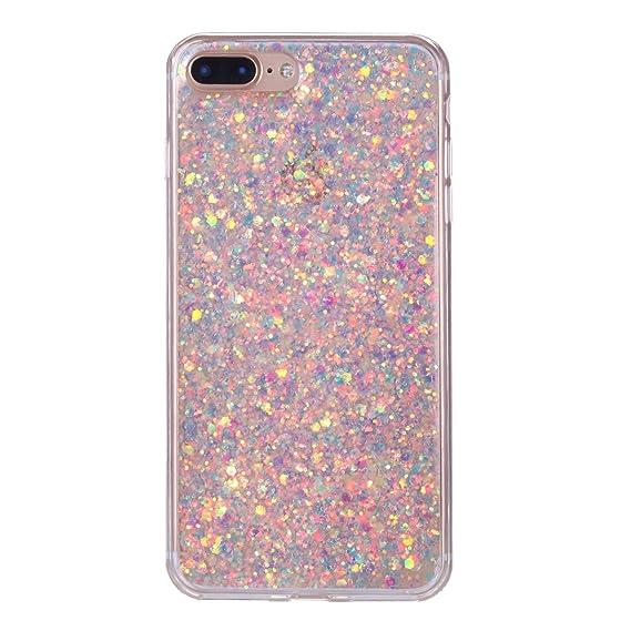 e66962f15ed Funda iPhone 8 Plus, Funda iPhone 7 Plus, SHUNDA Bling Funda con  lentejuelas Cubierta