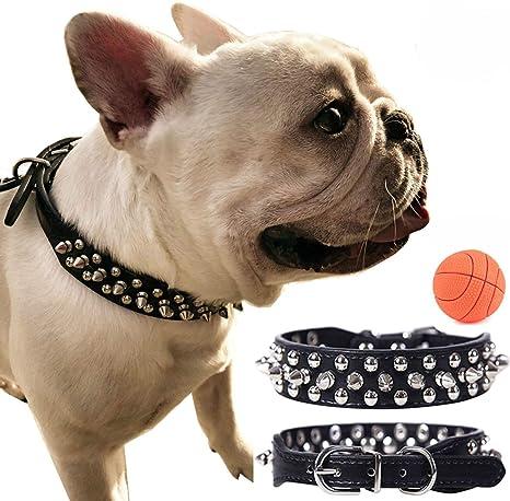 teemerryca - Collar de perro de piel sintética resistente con ...