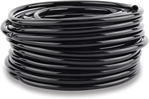 Sparkfire 100ft 1/4 inch Blank Distribution Tubing Drip Irrigation Hose Garden Watering Tube Line for Small Garden Irrigation System