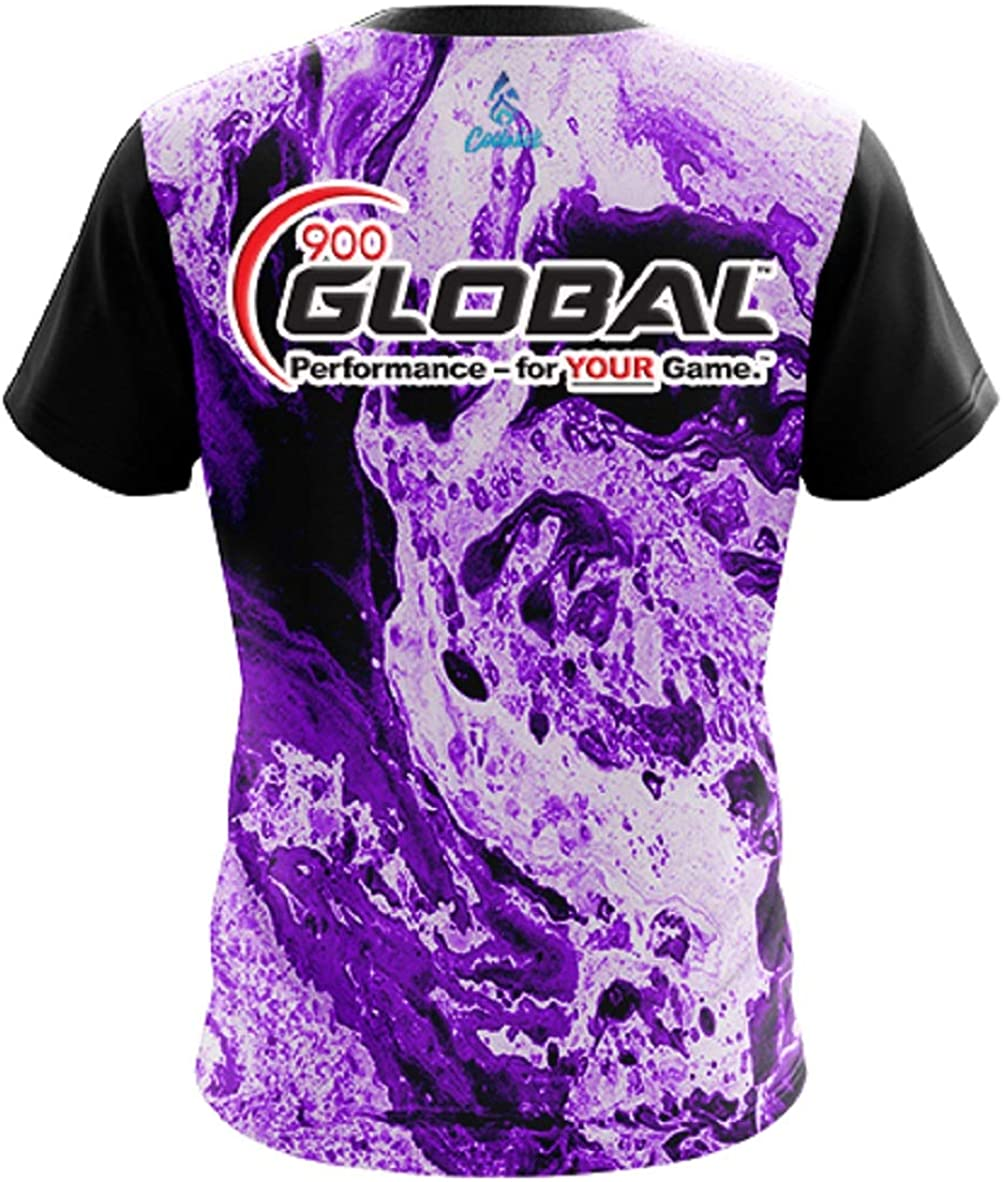 CoolWick 900 Global Mens Marble Purple Bowling Jersey