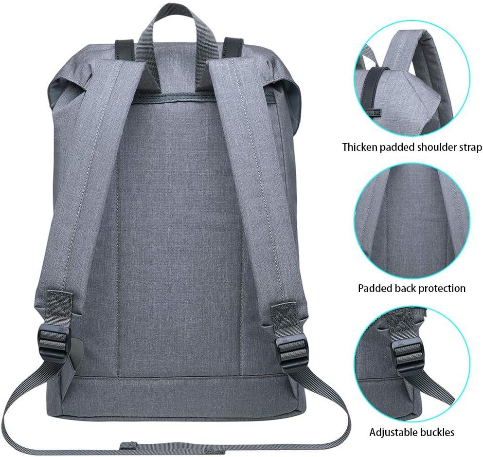 KAUKKO Sac /à Dos Loisir Sac /à Dos Vintage pour Hommes pour Voyages ou /école Peut accueillir Un Ordinateur Portable Taille Mini Gris et Vert
