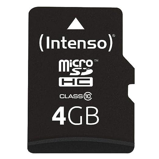 Intenso Micro SDHC 4GB Class 10 Speicherkarte inkl. SD-Adapter schwarz