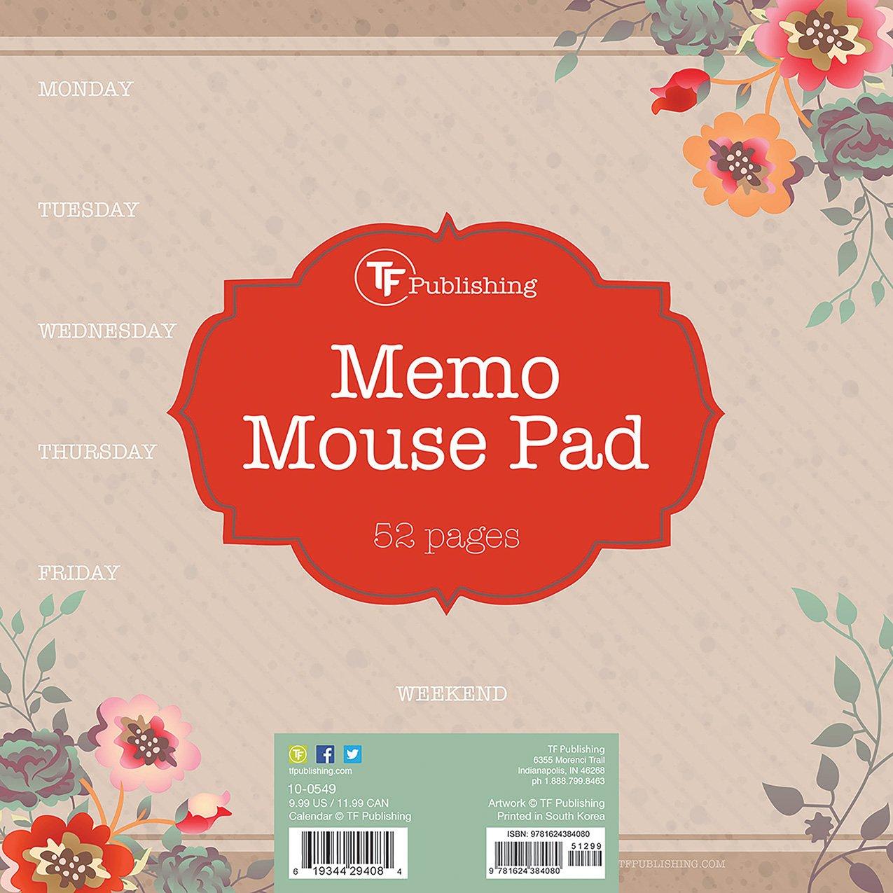 Kraft Garden Weekly Memo Mouse Desk Pad Tf Publishing