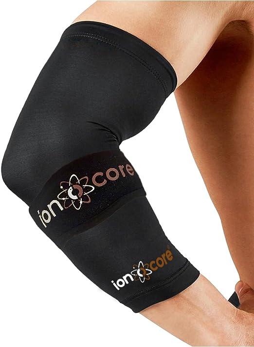 Ionocore® Sistema de Protección para el Codo - Brazelete Protector Codo de Tenista - Correa del Codo y Mangas de Compresión para las Articulaciones del Antebrazo, Ligero GRANDE: 12.5