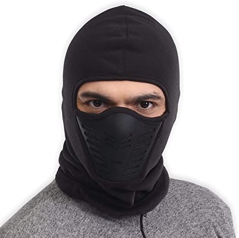 Balaclava Ski Mask Cold Weather Face Mask with Air Vents for Men & Women Fleece Hood Snow Gear for Skiing, Snowboarding, Motorcycle Riding &
