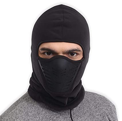 Balaclava Fleece Hood   Ski Mask with Air Mask - Heavyweight Extreme Cold  Weather Face Mask 024d4e51257