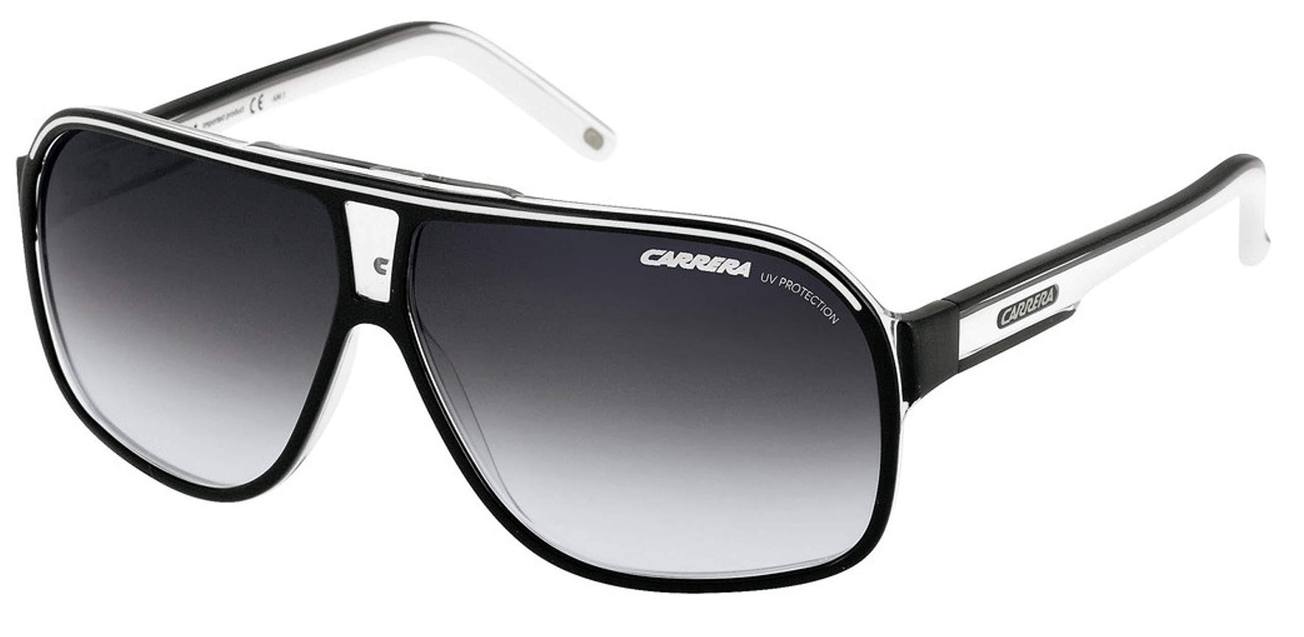 Carrera Grand Prix 2 T4M Pilot Sunglasses Lens Categ, Black/White, 64mm