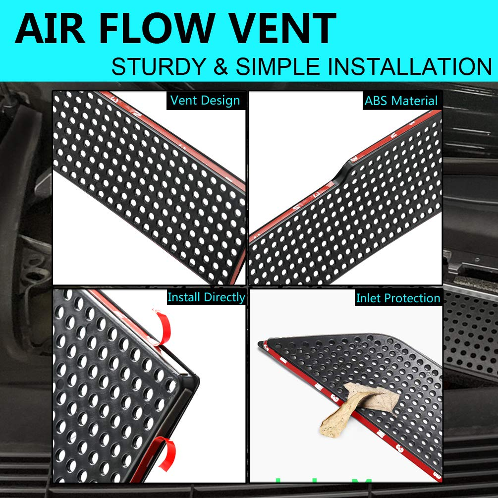 ROOCS Model 3 Air Flow Vent Protection Cover, ABS Plastic Air Vent Intake Air Conditioning Air Intake Grille Inlet Cover for 2017-2019 Tesla Model 3