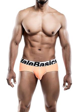 642c3963bd3e Malebasics Men's Sports Performance Hip Brief Orange at Amazon Men's ...