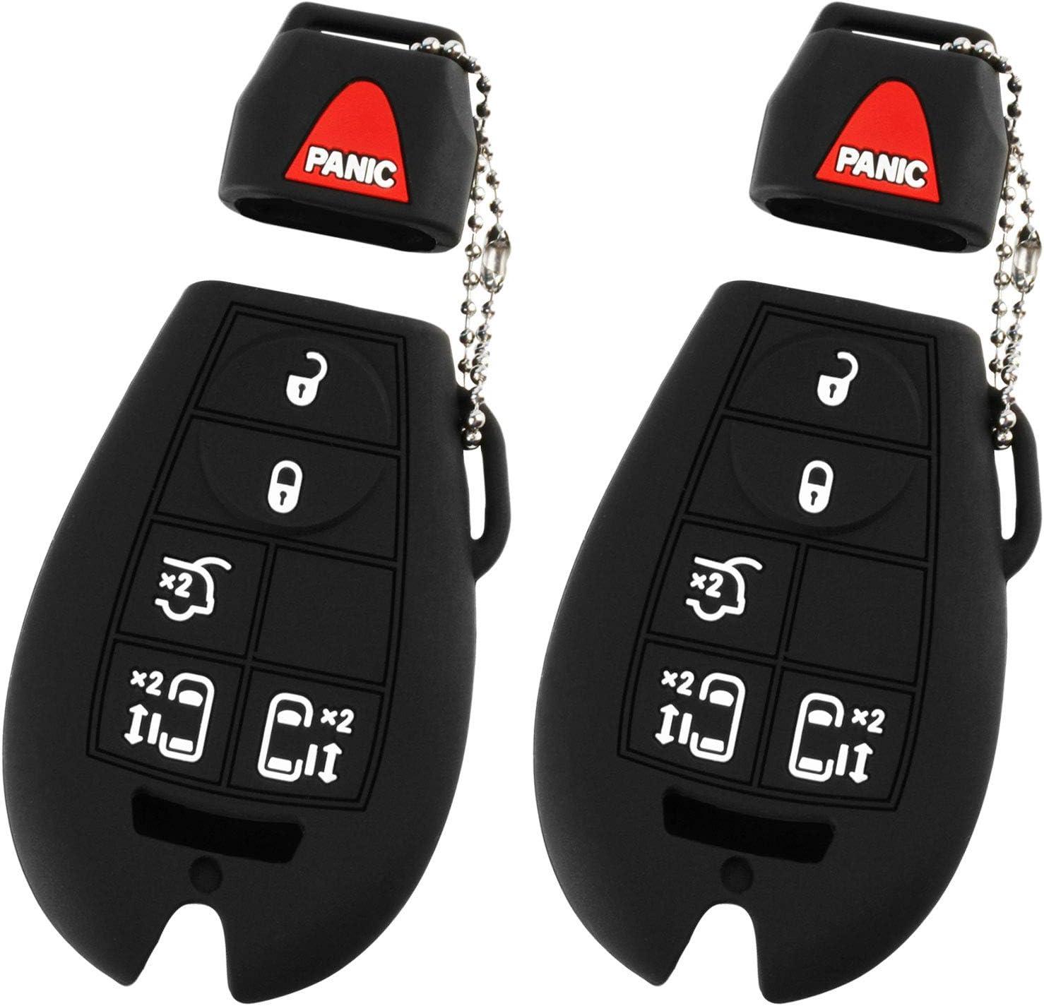 Key Fob Keyless Entry Remote Cover Protector for Jeep Dodge Chrysler M3N5WY783X, IYZ-C01C, Fobik