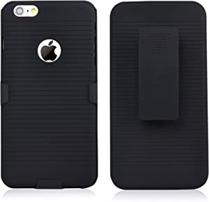 iPhone 6s Plus Case, Super Slim Hard Shell Layer Holster Open-Face Sport Case with Holster Kickstand and Locking Belt Swivel Clip for Apple iPhone 6s Plus