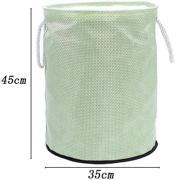 Juguetes Ropa Sucia Redonda cesto de Barril de Almacenamiento Grande Antipolvo Cubo Plegable ZHAQU Cesta de lavander/ía s/úper Grande con cord/ón