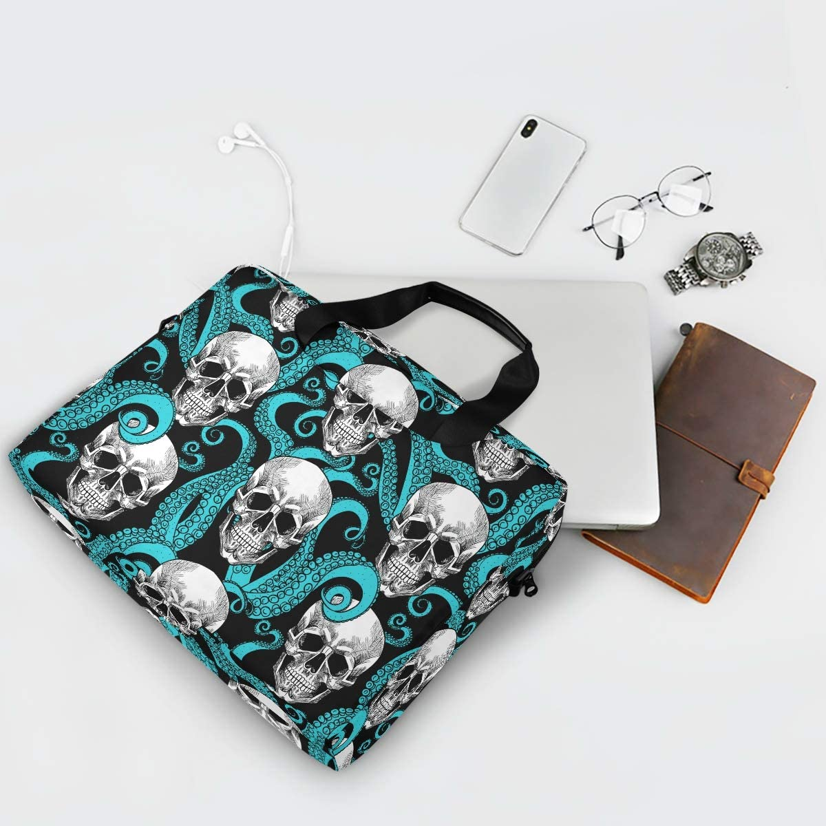 Kull and Tentacles of The Octopus 15.6 Inch Tote Bag Laptop Messenger Shoulder Bag Carrying Briefcase Laptop Bag Briefcase Shoulder Bag Office Great to School