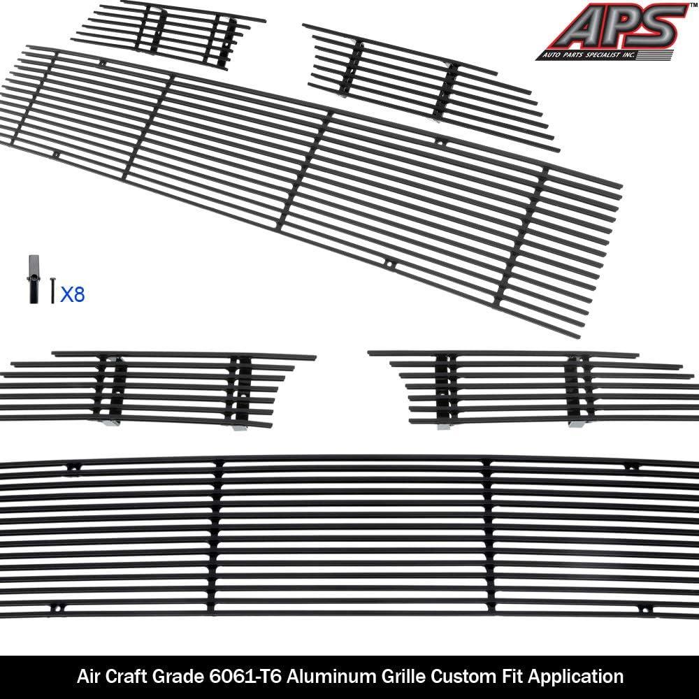 APS Compatible with 2014-2019 4Runner Regular Model Aluminum Black Horizontal Billet Grille Insert T61278H
