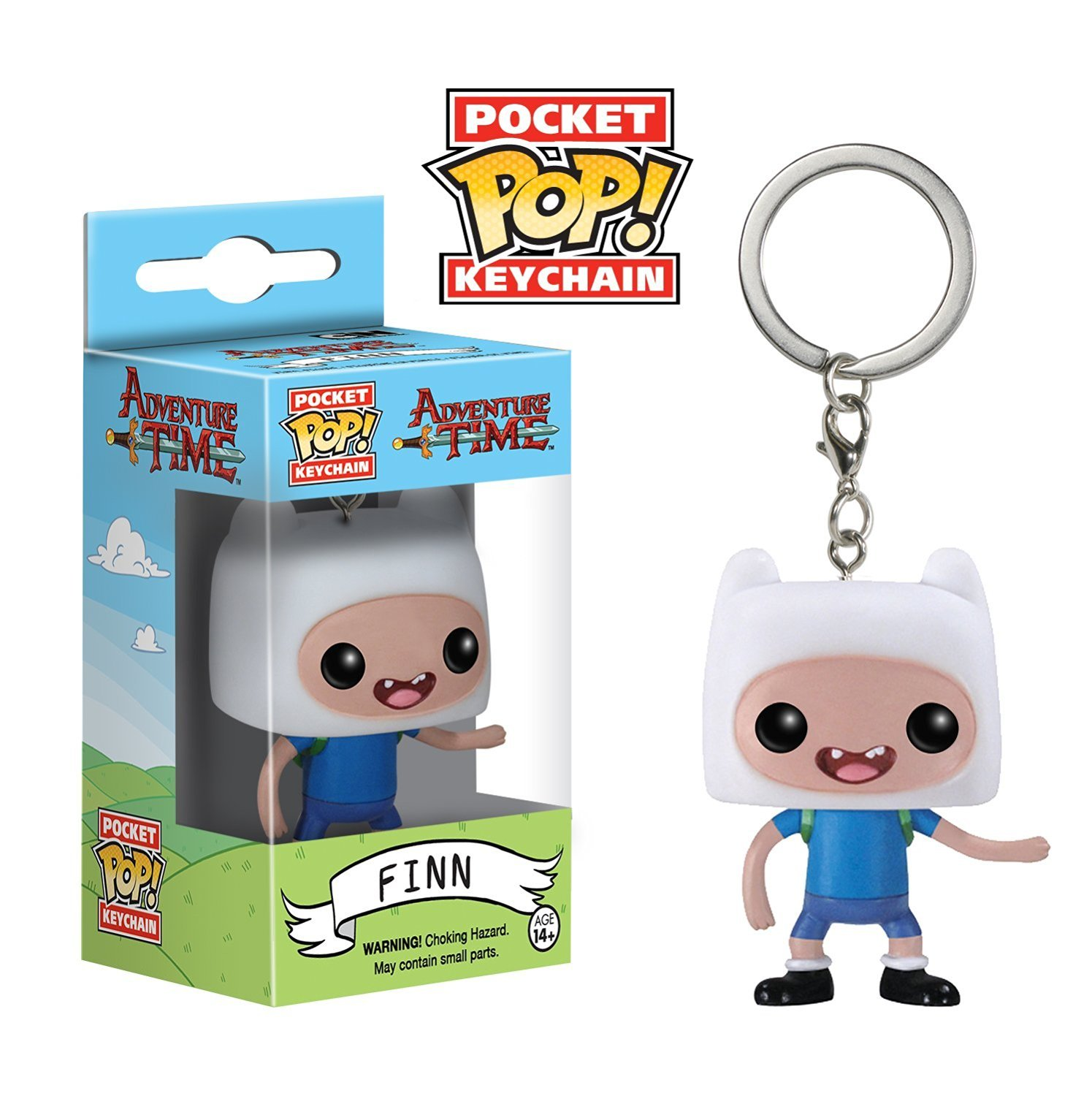 Amazon.com: Funko Adventure Time Finn Pocket Pop - Llavero ...