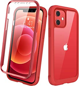 Diaclara Designed for iPhone 12/12 Pro Case, Full Body Rugged Case with Built-in Touch Sensitive Anti-Scratch Screen Protector, Soft TPU Bumper Case for iPhone 12/12 Pro 6.1