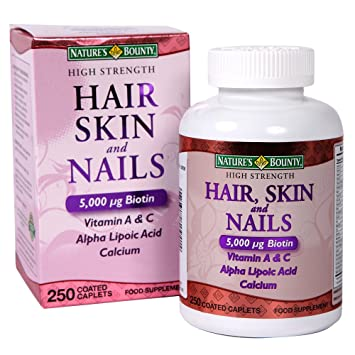 Nature\'s Bounty High Strength Hair, Skin & Nails Food Supplement ...