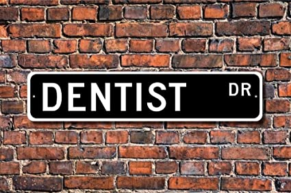 Amazon.com: teisyouhu Funny señales de metal dentista regalo ...