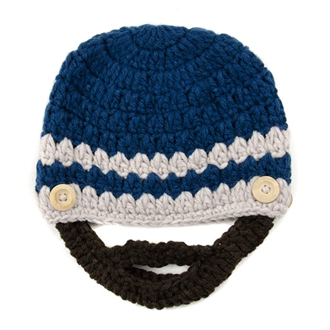 Small Beard Beanie - Blue Lumberjack Beanie Hat for Baby and Toddler. Soft  Stretchable Beard Beanie Hat Circumference is 36cm or 14 Inches. 66779bb4b39