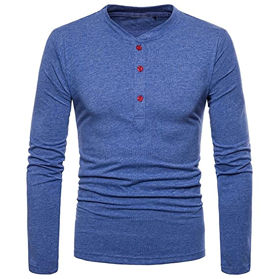 OHQ_Camisa Hombre Blusa OtoñO Moda 2018 Personalidad Slim Fit Camisa De Manga Larga SóLida Top Blusa