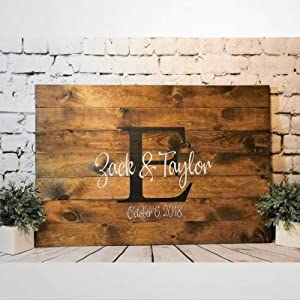 BYRON HOYLE Guest Book Alternative Wood Sign,Wooden Wall Hanging Art,Inspirational Farmhouse Wall Plaque,Rustic Home Decor for Living Room,Nursery,Bedroom,Porch,Gallery Wall