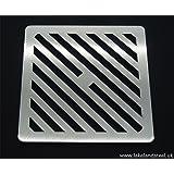 Gullygitter 15,2/x 15,2/cm 9/mm dick schwarzes Satiniertes Finish robuster Ablauf Gusseiser