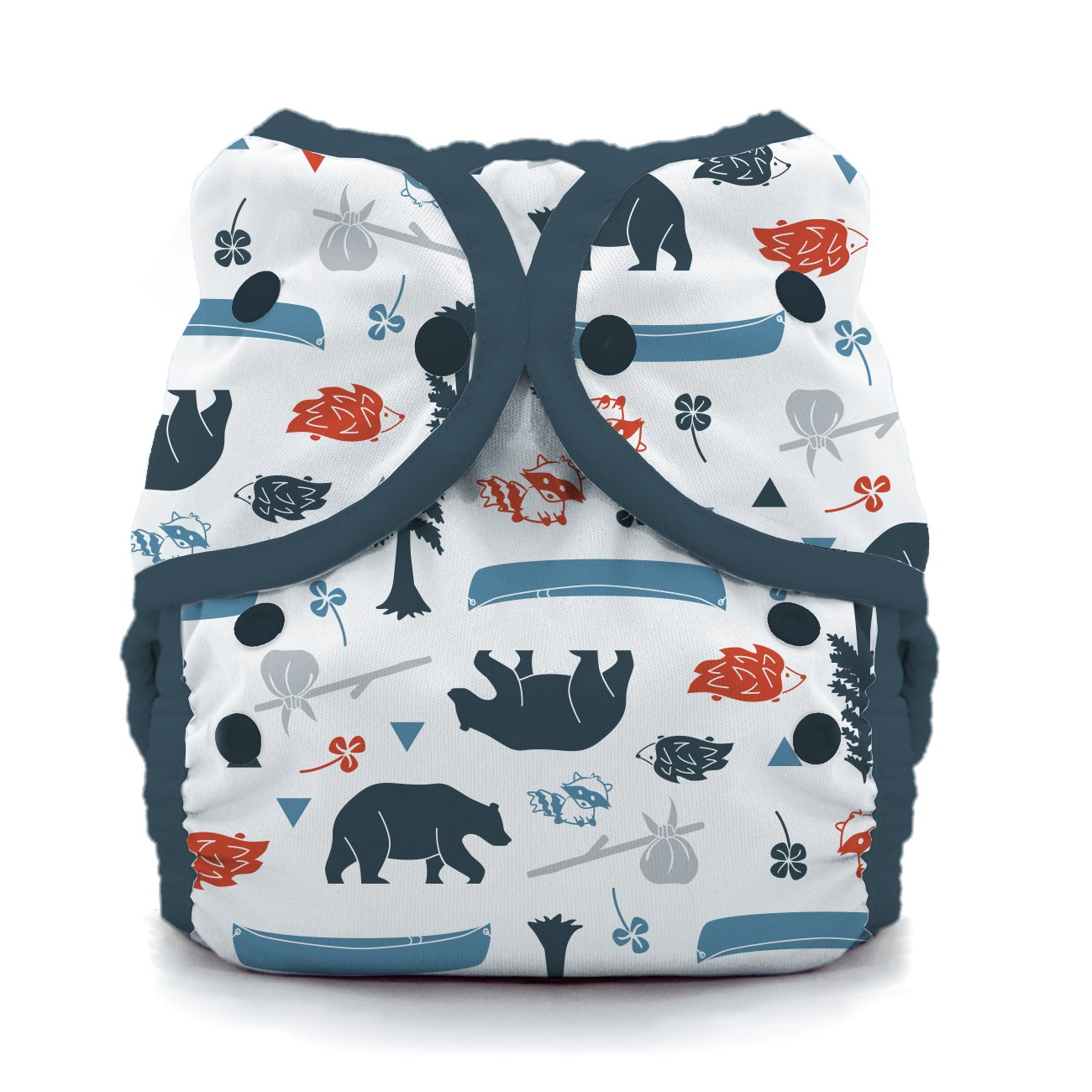 Thirsties Duo Wrap Cloth Diaper Cover, Snap Closure, Adventure Trail, Size 1 (6-18 lbs) by Thirsties