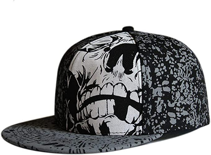 InnovativeVersionSin Full Close Hip Hop Gorra de Calavera con ...