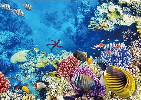 YongFoto 1,5x1m fondo submarino del mundo fondo océano bajo el agua peces coral azul