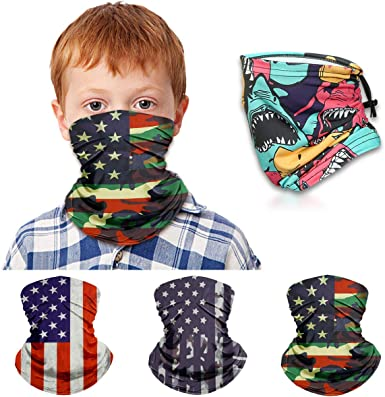 Face Gaiter for Kids Summer Face Covering Neck Gaiter Kid Face Scarf Children Balaclava Bandana Color 24