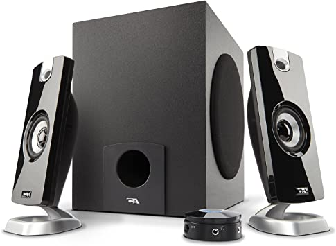 Desktop Computer Multimedia Loud Stereo Speaker System With Sub Woofer  Black