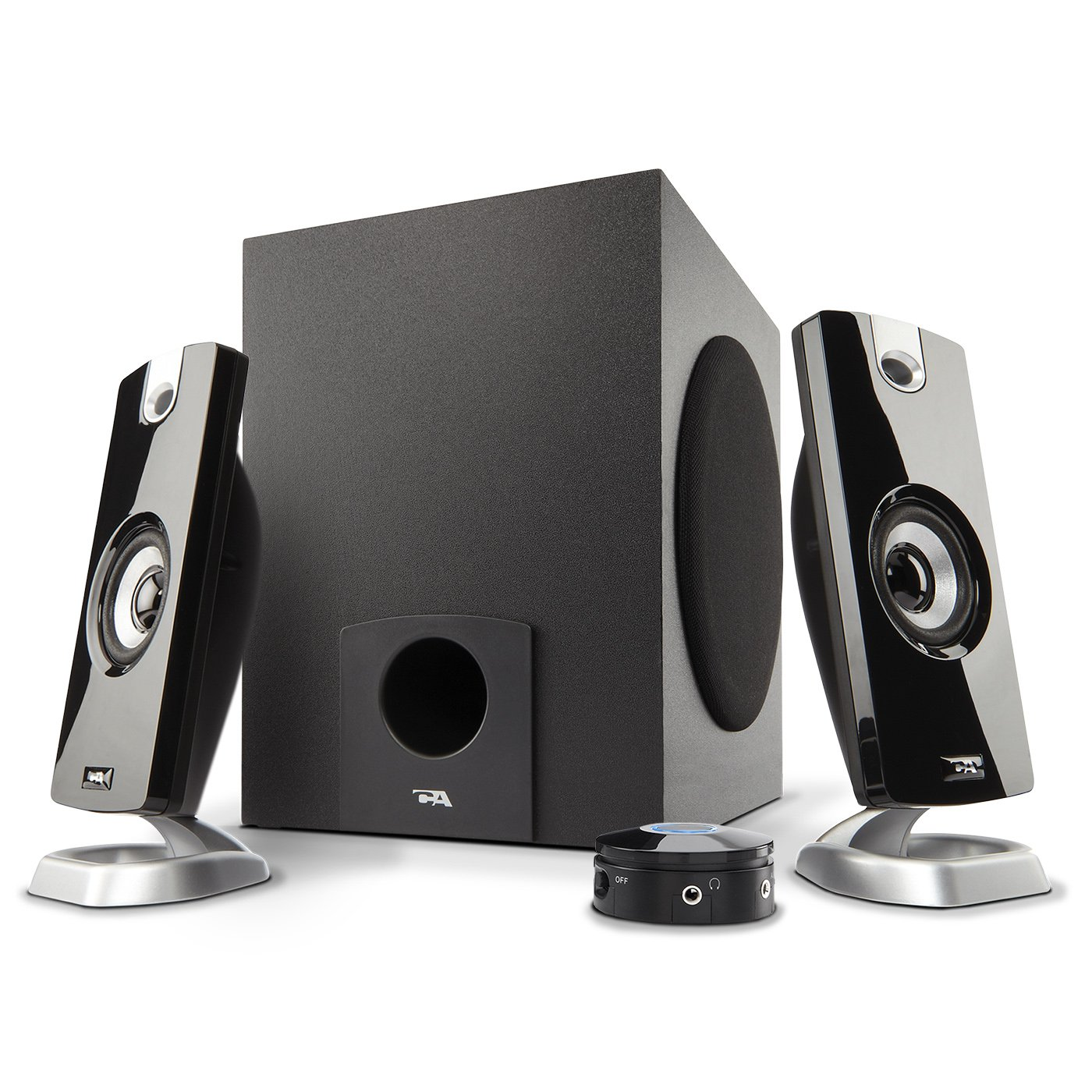 Cyber Acoustics 2.1 Subwoofer Speaker System with 18W of Power – Great for Music, Movies, Gaming, and Multimedia Computer Laptops (CA-3090)