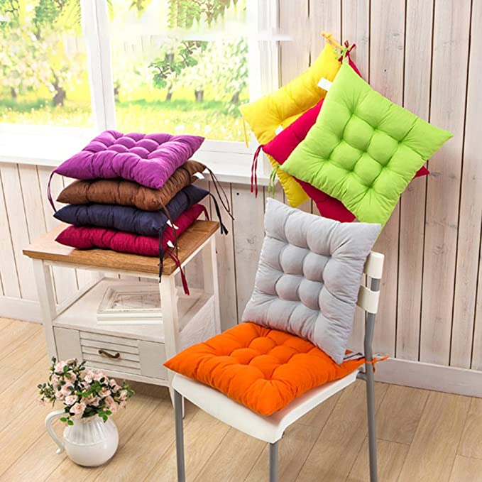 Amazon.com: Chair Pads, Square Polyester Chair Cushions Soft Thicken ...