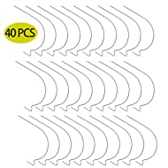 40 Pieces Picture Hangers Super Hooks, Hang Art, Clock, Shelves, Mirrors, Frames or Planters for Home and Office Decorations