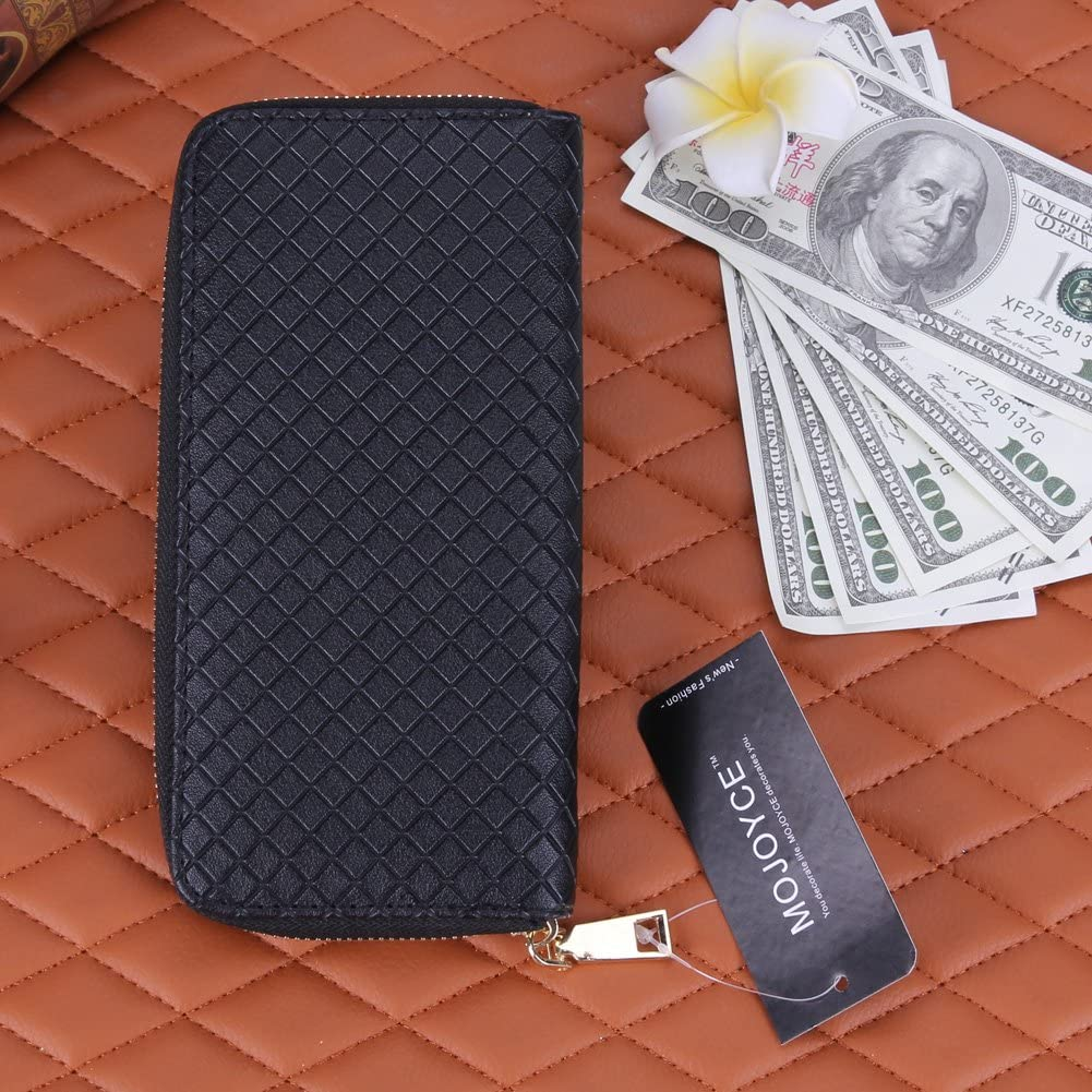 Women Clutch Wallet Vanpower New Fashion Lady Leather Clutch Wallet Long Card Holder Case Purse White Black